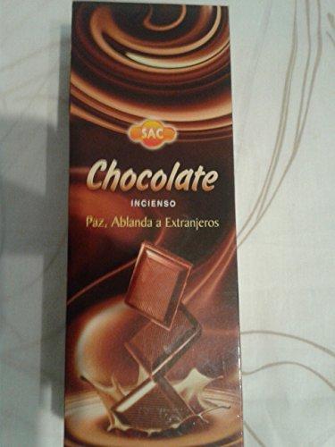 Rookstokjes chocolade, 6 stuks, 120 stokjes, zeshoekig