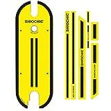 SHIOCHIC - Tabla con Pegatinas - Accesorio Patinete Eléctrico Xiaomi Pro y Pro 2 - Medidas: 67.8 x 23.8 x 0.9 cm - Fancy Yellow - Personaliza tu Patinete - Permite Apoyar los Pies en Paralelo