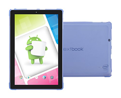 """Nextbook Ares 10A Light Blue TPU Case - iShoppingdeals Ultra–Slim TPU Rubber Gel Cover with Textured, Non-Slip Grip for Nextbook Ares 10A 10.1"""" (NX16A10132S) Android Tablet 2016 Release"""