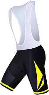 Pohoopo Shockproof Tights Cycling Shorts with Straps with 4D Padded Mountain Bike Cycle Pants