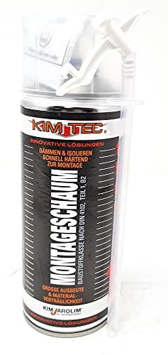 Toolzy 101867 1K PUR Montageschaum PU Bauschaum Verfüllung Dämmung Isolierung PU-Schaum 300 ml