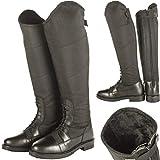 HKM Reitstiefel-Style Winter-9100 Pantalon Mixte, Noir, 40