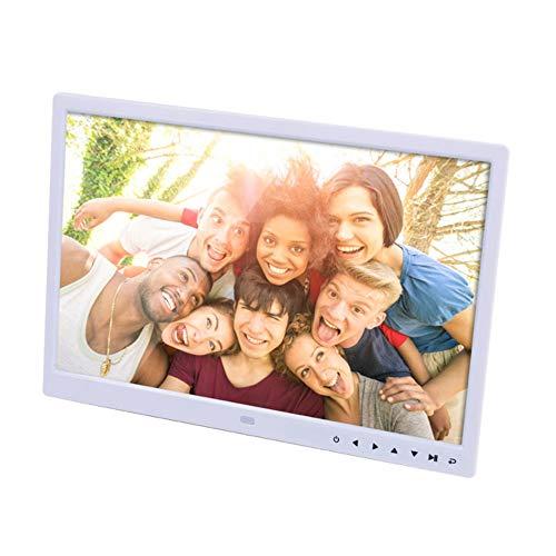 TLgf 15,4-Zoll-Digital-Bilderrahmen-HD-LED-Bild-Video-Rahmen mit HD-Fotorahmen-Wandhalterungsanzeige-Video-Werbemaschinenbroschüre,White