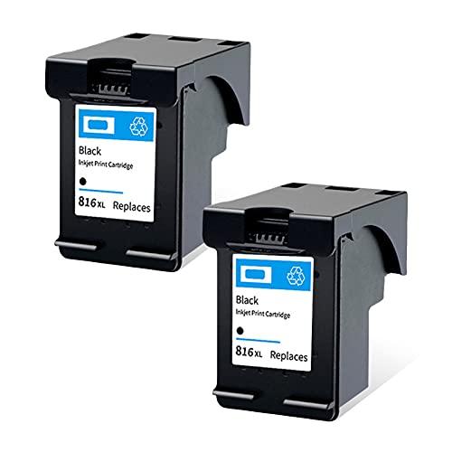 SXCD 816 817 Cartucho de Tinta para HP, Compatible con HP DeskJet 3938 2238 F388 F2288 OfficeJet 4308 4338 Photosmart PSC 1110 1311 Impresora, Cartuchos de Alto rendimien Black 2