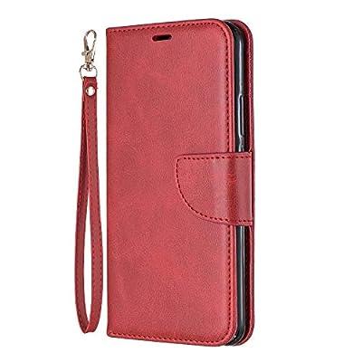 Lomogo Huawei Nova 3i / P Smart+ (2018) Case Leather Wallet Case with Kickstand Card Holder Shockproof Flip Case Cover for Huawei Nova3i/P Smart Plus - LOBFE150302 Red