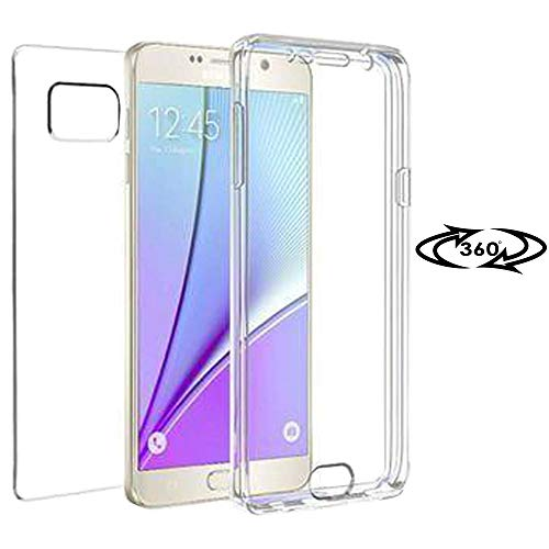 United Hülle 360 Grad Cover für Samsung Galaxy Note 5 | Klar | Klar TPU Hülle Silikon