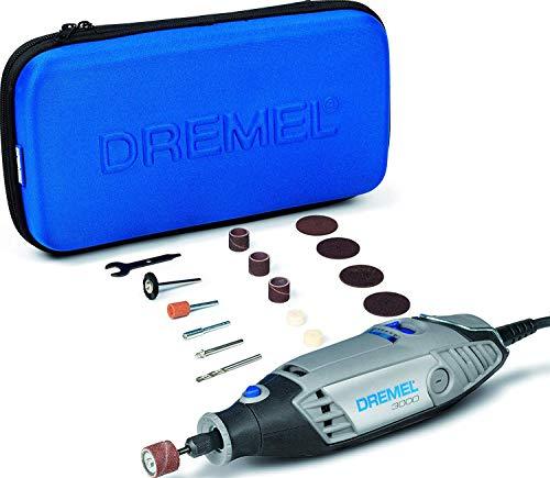 Dremel 3000 Kit Multiherramientas con estuche, Velocidad variable entre 10.000 y 33.000 rpm, 130 W