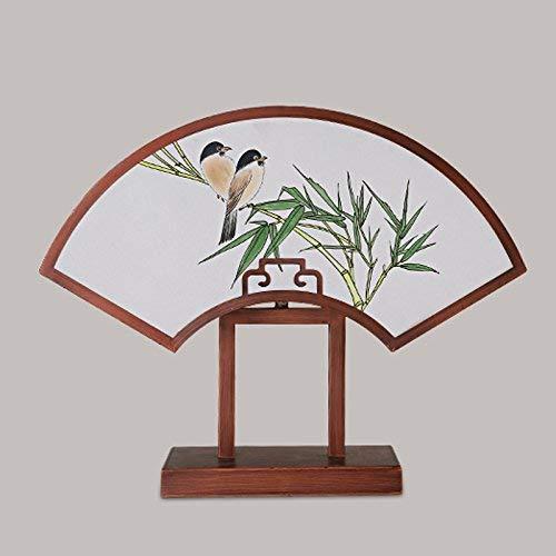 Lámpara de mesa Luz de luces Luces Luces modernas de estilo chino Lámpara de mesa, creativo Pintado a mano Forma de tela Lámpara de tela Dormitorio Lámpara de noche, estilo clásico chino Lámpara de hi