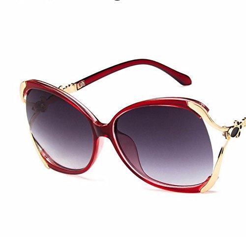 Lubier Gafas de sol polarizadas para mujer, montura redonda de metal, lentes transparentes, gafas de sol de ocio