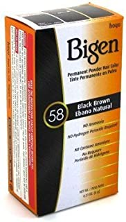 Bigen Powder Hair Color #58 Black Brown .21 oz. (Case of 6)