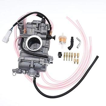 ROOSAIN YFZ450 Carburetor for Yamaha YFZ450 YZ426F YZ400F WR450F WR426F WR400F for 1998-2011 Suzuki RMZ450 Honda CRF450R CRF450X Husqvarna TC450 TE450 2002-2011 Carb Replace 5TG-14101-00-00