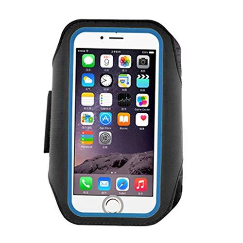 SKX Bolsa para Brazo Fitness al Aire Libre Brazo para Correr con Pantalla Desbloqueo con Huella Digital Brazo para teléfono móvil con Material de Lycra Bolsa para Brazo eléctrico,Negro