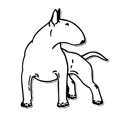 MDGCYDR Pegatinas Coche 12,3 * 14 Cm Bull Terrier Perro Pegatinas De...
