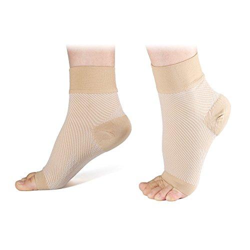 DEWIN Plantar Fasciitis Socks -Kompressionssocken mit Knöchel & Arch Support für Männer, schnelle Schmerzlinderung, Leichtigkeit Schwellung (Color : Skin Color, Size : L)