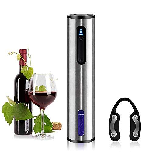 Eléctrico Abrebotellas del vino, Saca corchos, USB recargable Profesional Acero inoxidable Sacacorchos...