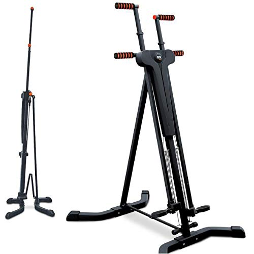 L&B-MR Innovativer 2-In-1 Stepper & Vertical Climber. Fitness - Klettern - Kletterbewegungen, Faltbares, Multifunktionales Anti-Rutsch-Design - Ideal Für Intensives Intervalltraining