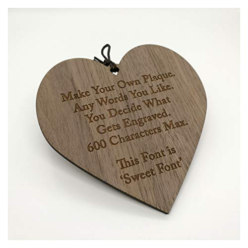 LoveThis** Make Your Own Plaque Sign - Personalised Wooden Heart - Add Your Own Words - Poems, Sayings, Prayers, Quotes
