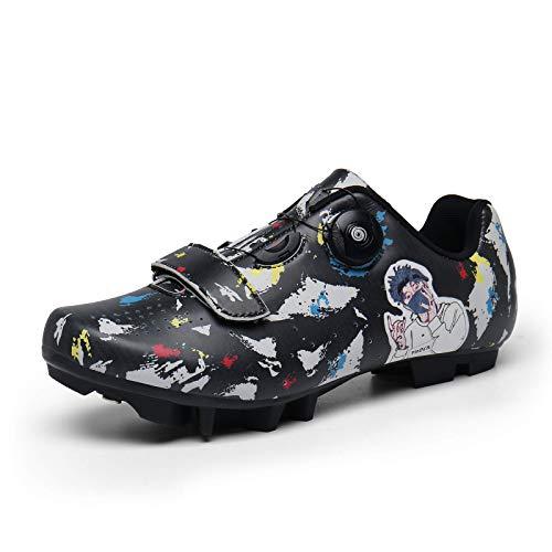 Zapatillas De Ciclismo-Zapatillas De Mtb Spd Zapatillas De Bicicleta De Montaña Tacos Compatibles...