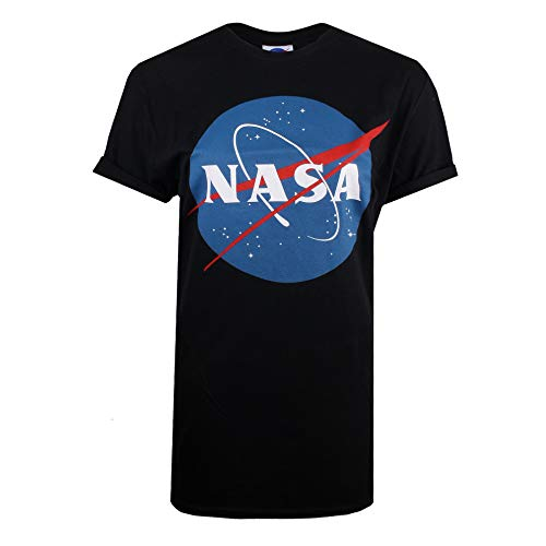 Nasa Circle Logo T-Shirt, Bleu (Navy Navy), 38 (Taille Fabricant: Small) Femme