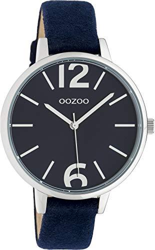 Oozoo Damenuhr mit Lederband 38 MM Blau/Blau C10437