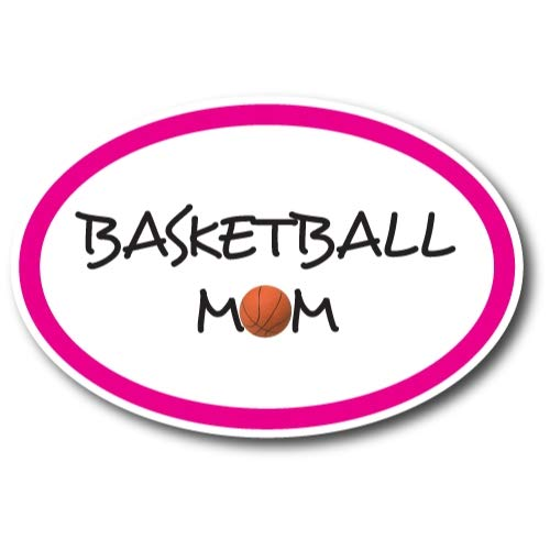 Basketball Mom Car Magnet Decal 4 x 6 Oval Heavy Duty for Car Truck SUV Waterproof