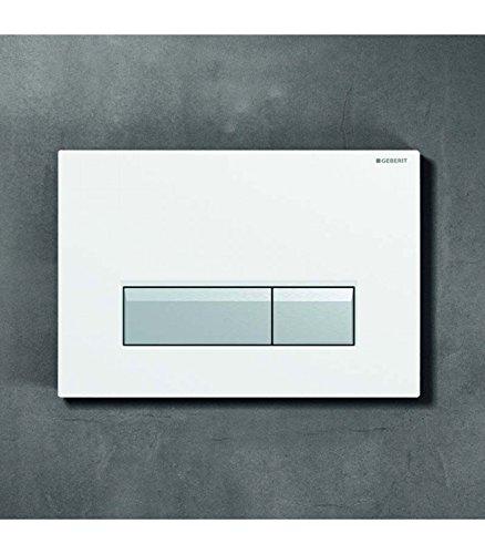 Geberit Sigma 40 Betätigungsplatte mit Geruchsabsaugung Kunsstoff schwarz / Aluminium gebürstet