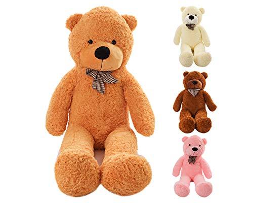 MyTeddyWorld Riesen Teddy Bär XL-XXXL Teddybär 140-200 cm samtig weich Plüsch Kuscheltier Plüschbär Farbwahl Hellbraun 160 cm