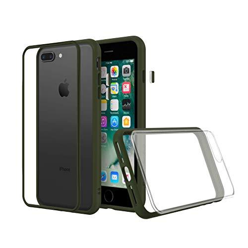 RhinoShield Coque Compatible avec [iPhone 7 Plus / 8 Plus]   Mod NX - Protection Fine Personnalisable avec Technologie Absorption des Chocs [sans BPA] + [Programme de Remplacement] - Vert Kaki