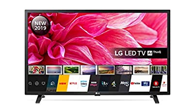 LG Electronics 32LM630BPLA.AEK 32-Inch HD Ready Smart LED TV with Freeview Play - Ceramic Black colour (2019 Model), with Alexa built-in