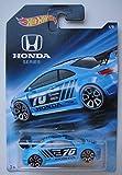 Hot Wheels Honda Series, Blue Honda Civic SI 4/8