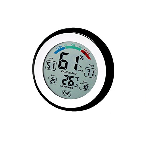 Enjoy Best Time Digital Indoor Hygrometer Thermometer,Home Room Wall Desk Temperature Gauge and Humidity Monitor With Max/Min Value & Trends,Comfort Indicators(Black)