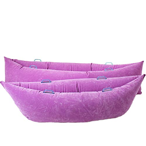 """Fun and Function's Cozy Canoe Inflatable Compression Peapod Great Sensory Toy for Children with Sensory Needs, ADHD & Autism Providing Deep Pressure - Latex-Free Vinyl Purple Medium 70.4"""" Length"""