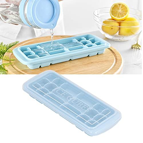 Stampo per ghiaccio, vaschetta per il ghiaccio Morbidezza e tenacità con coperchio per la famiglia per la produzione di ghiaccio, sushi
