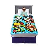 Franco Kids Bedding Super Soft Micro Raschel Throw, 46' x 60', Mario