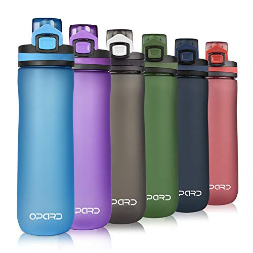 Opard Sports Water Bottle, 20 Oz BPA Free Non-Toxic Tritan Plastic Water Bottle with Leak Proof Flip Top Lid for Gym Yoga Fitness Camping (Aqua)