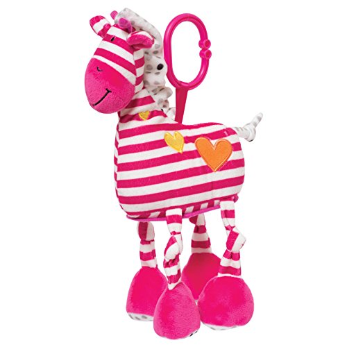 Manhattan Toy Brights Baby Activity Toy with Discovery Mirror, Pink Giraffe New Hampshire