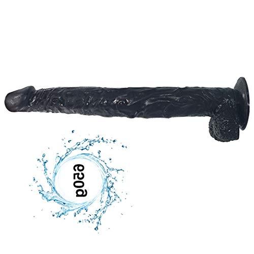 Mǔjěr Cǒnsǒládǒr Grándě, Largo: 15.74' Herramienta suave de la taza enorme base de silicona Manos masaje Negro Juguete brazo delgado de manos libres magia privado Negro Pénés Dé Sǐlǐcǒná CLP010008