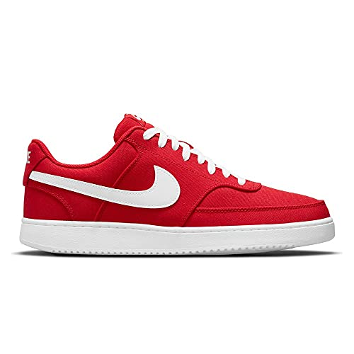Nike Court Vision Low Canvas, Chaussure de Basketball Homme, University Red White, 45 EU