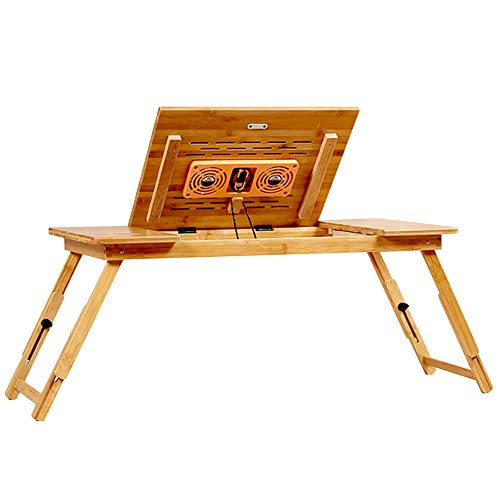 Folding table LVZAIXI Plateau de lit pour Petit déjeuner, Plateau inclinable, Disponible en différentes Tailles (Taille : (72 * 34 * 33cm) with Fan)