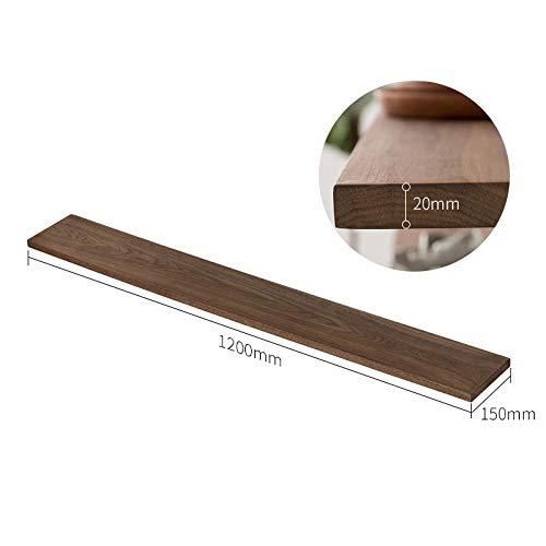 Drijvende Planken, Houten Decoratief, Picture Ledge Display Rack, Boek Hangende Plank, Verschillende Maten Plank Set, Bevestigingen Inclusief Metalen Beugels,Perzik Houten Plank-1200 * 150 * 20 Mm