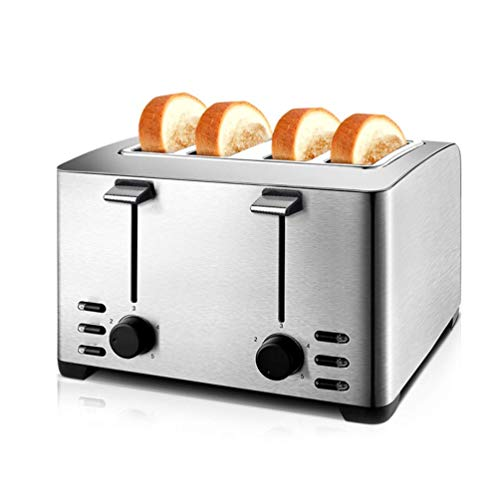 Brood Machine Huis 4 Slices ontbijt Toast Soil Driver Automatische Spit Driver Multi-Purpose broodmachine Glutenvrij volkoren roestvrij staal, grijs ZHW345