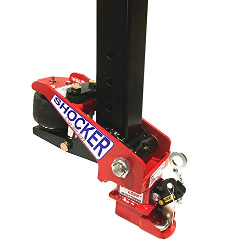 Best Buy! Shocker Gooseneck Surge Air Hitch & Coupler for EBY Trailers - 30,000 lbs (Replaces Factor...