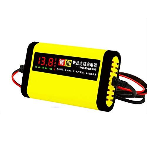 Cargador Baterias Coche Automático lleno de la motocicleta del coche cargador de batería de 12V 2A Smart 3 StagesIntelligent Display Cargador De BateríA De Coche (Color : 1)
