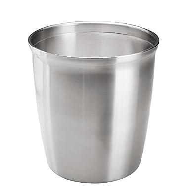 InterDesign Forma Wastebasket Bathroom Trash Can - Polished Stainless Steel