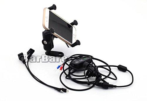 Motorrad Handyhalterung/Navi Halterung mit USB-Port für BMW R1200GS R1200R S1000R S1000XR