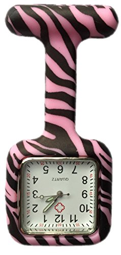 Boolavard TM Enfermeras Silicona Estampada Color Goma Fob Relojes de Moda