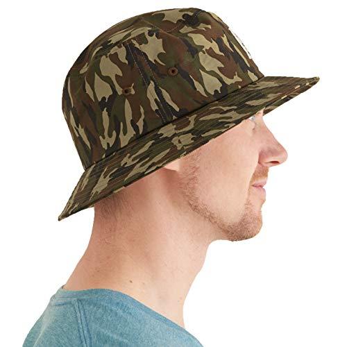 Gorro Pescador Bucket Hat Hombre - Sombrero Bucket Mujer Gorra Hawaii Verano Visera Algodon UV Camuflaje