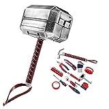DECHI - Kit con martillo de Thor y otras herramientas, ideal para reparaciones diarias