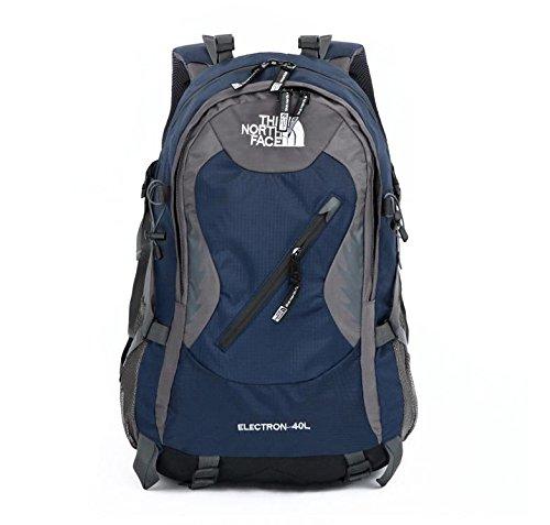 XIE@ All'aperto alpinismo zaino impermeabile capacità 40 litri escursioni roccia arrampicata avventura Sport per uomini e donne borsa a tracolla , deep blue