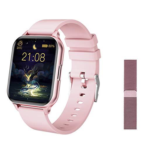 Q26 Señoras Y Relojes Inteligentes para Hombres, 1,7 Pulgadas Pantalla Grande Presión Arterial De Lujo Moda Digital Calorie Reloj Deportivo para Android iOS,E